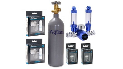 Dual CO2 Set Aquario BLUE TWIN Standard with cylinder