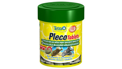 Tetra Pleco Tablets are complete food in the form of tablets for herbivore demersal fish and coy fish